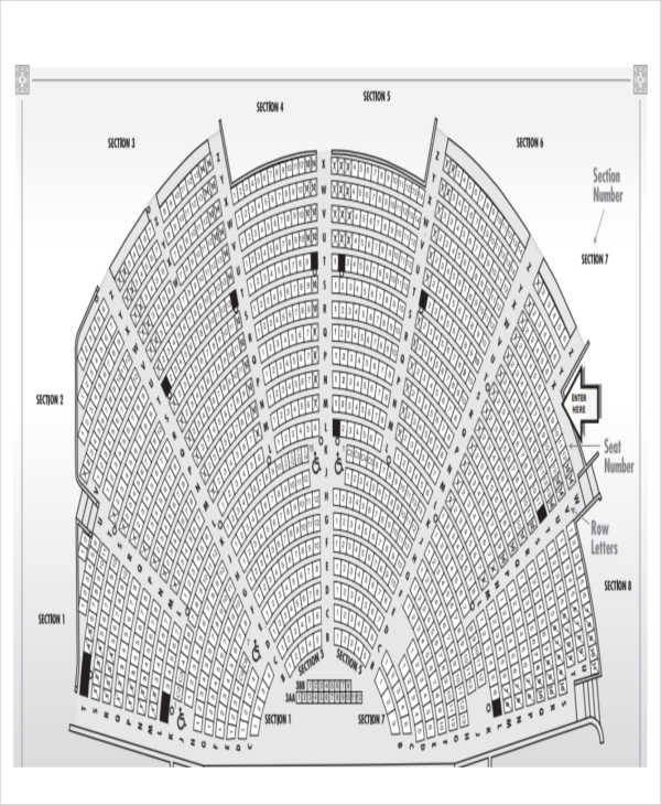 Auditorium Seating Chart Template 40 Free Charts