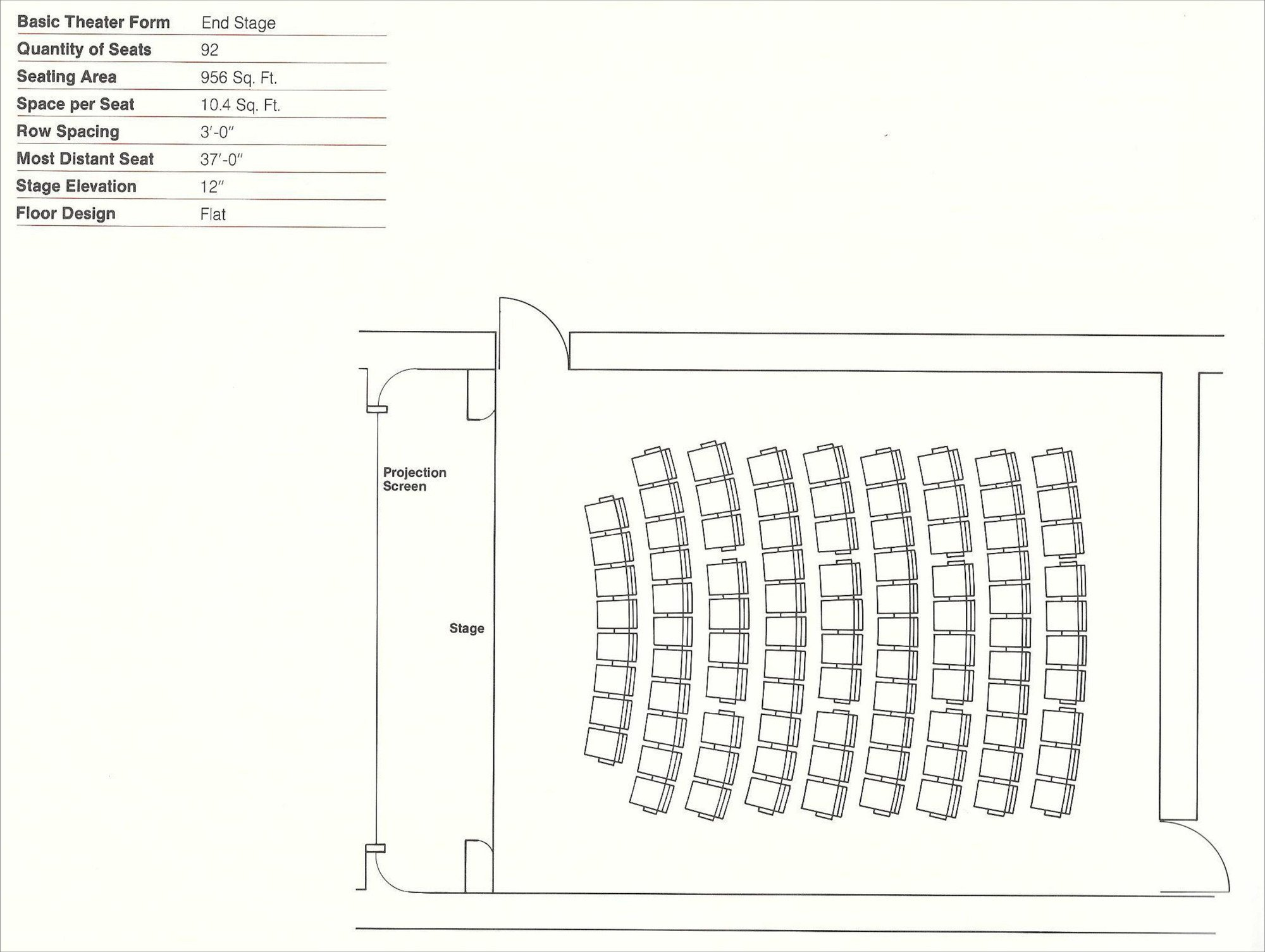 Auditorium Seating Chart Template Gallery Of How to Design theater Seating Shown Through 21