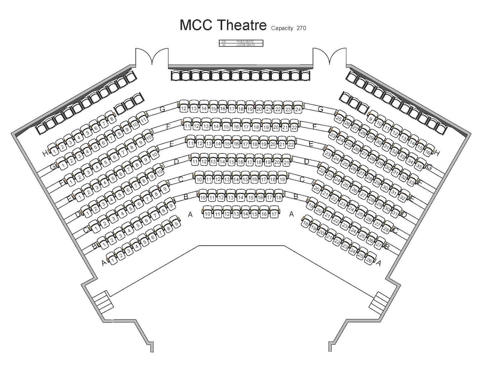 Auditorium Seating Chart Template Mahaffey theater Seating Chart