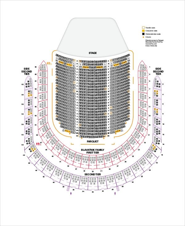 Auditorium Seating Chart Template Sample Seating Chart 8 Documents In Pdf Word