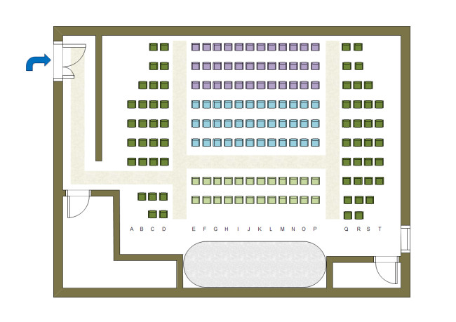 Auditorium Seating Chart Template theater Seat Plan