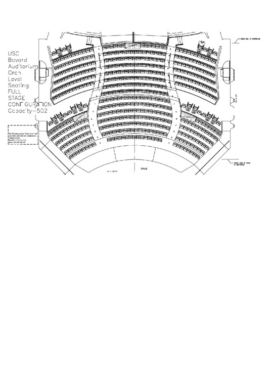 Auditorium Seating Chart Template Usc Bovard Auditorium Seating Chart Printable Pdf