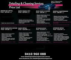 Auto Detail Price List Template 15 Best Auto Detailing Trailer & Van Wraps Images In 2016