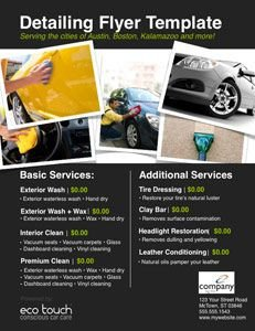 Auto Detail Price List Template Auto Detailing Flyer and Template Car Detailing