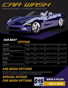Auto Detail Price List Template Customize 260 Car Wash Flyer Templates
