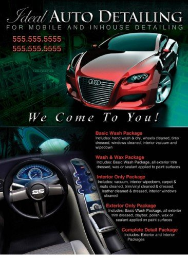 Auto Detailing Flyer Template Affordable Postcards Cutting Edge now Offers Extremely