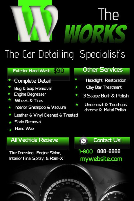 Auto Detailing Flyer Template Car Detailing Template