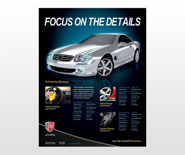 Auto Detailing Flyer Template Template On the button to This Car for