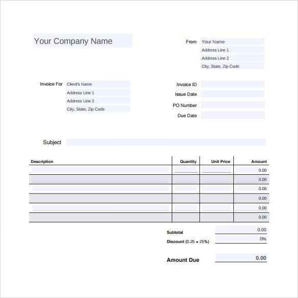 Auto Repair Invoice Template Sample Auto Repair Invoice Template 14 Download Free