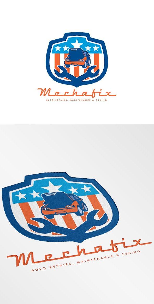 Auto Repair Logo Templates Mechafix Car Auto Repairs Logo Logo Templates On