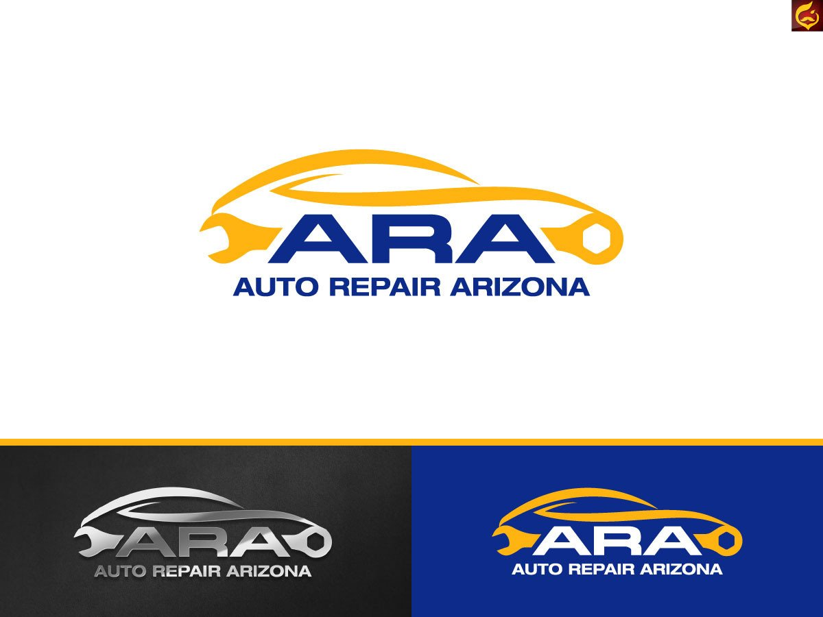 Auto Repair Logo Templates Serious Professional Marketing Logo Design for Auto
