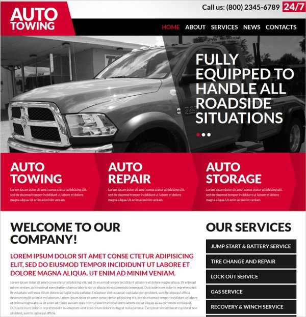 Auto Repair Website Template 25 Auto Repair Website themes & Template