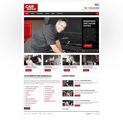 Auto Repair Website Template Car Repair Responsive Website Template
