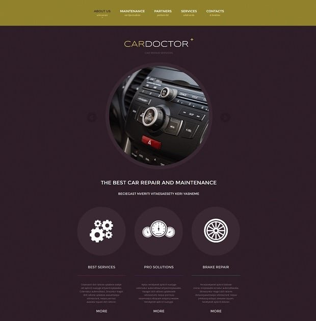 Auto Repair Website Template Car Repair Website Templates Take Your Auto Service Line