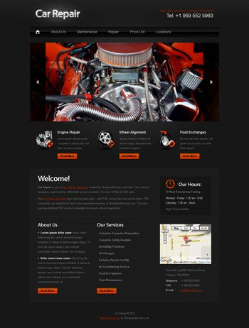 Auto Repair Website Template Web Page Design Contests Inspiring Web Page Design for