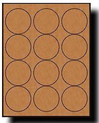 Avery 2 Round Label Template 1 200 Brown Kraft Labels 2 5 Diameter Round 100 Sheets
