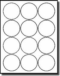 "Avery 2 Round Label Template 1 200 White 2 1 2"" Diameter Round Laser Only Glossy Labels"