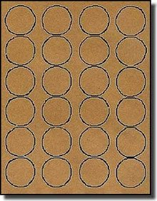Avery 2 Round Label Template 2 400 Brown Kraft Labels 1 5 8 Diameter Round 100