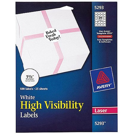 Avery 2 Round Label Template Avery 600pk High Visibility Round Laser Labels 5293 1 2 3