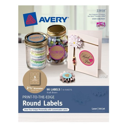 Avery 2 Round Label Template Avery Permanent Print to the Edge Round Labels Laser