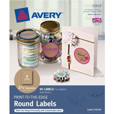 Avery 2 Round Label Template Avery Print to the Edge Round Labels Kraft Brown 2