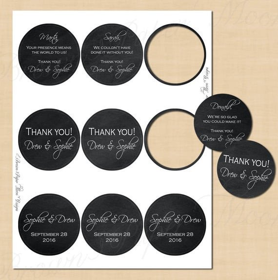 Avery 2 Round Label Template Chalkboard Round Labels 2 5 Text Editable Printable