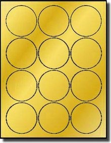 Avery 2 Round Label Template Gold Foil 2 1 2 Inch Round Labels for Laser Only Avery 5294