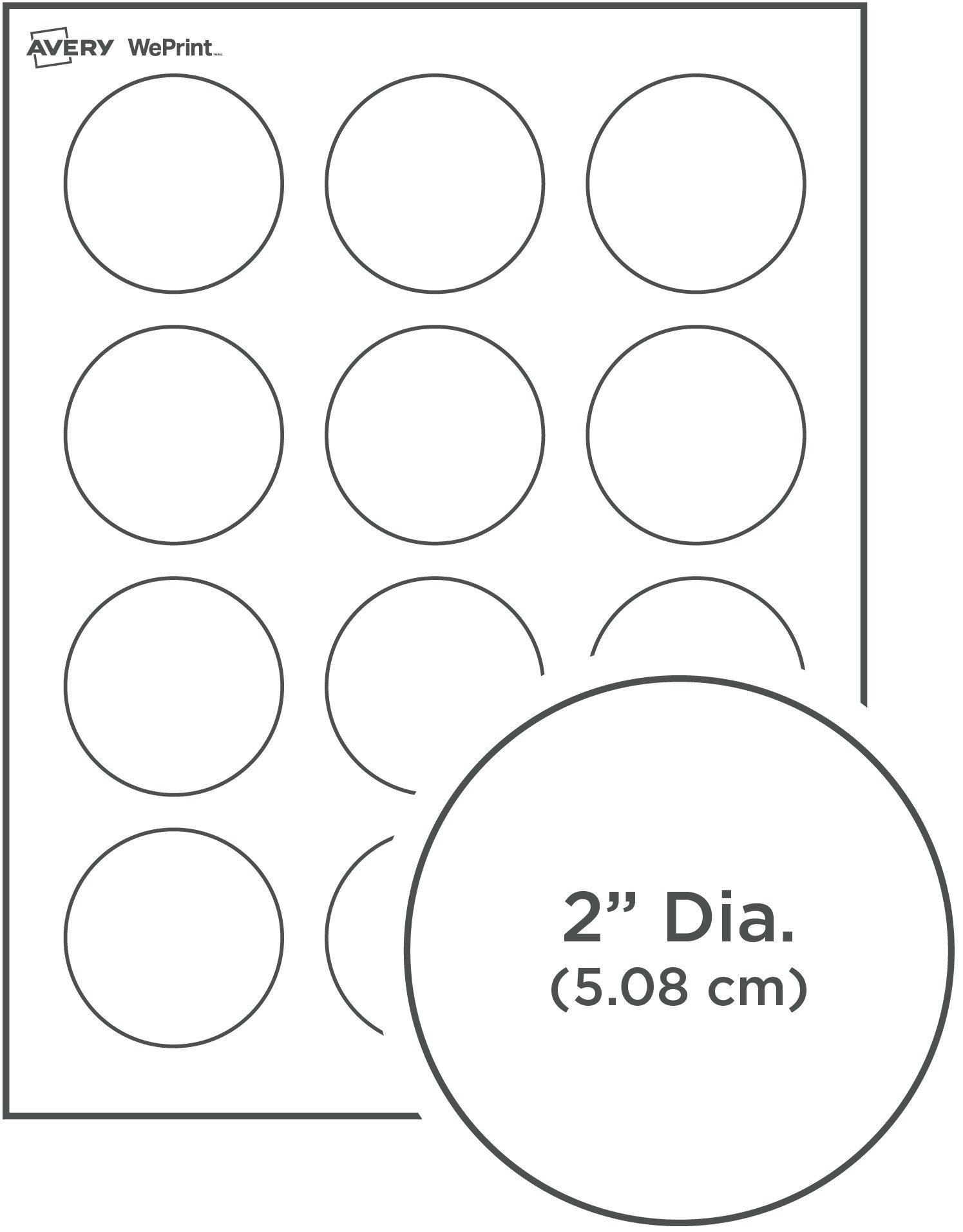 Avery 2 Round Label Template Round Labels