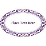 Avery 22814 Word Template Templates Classic Purple Pattern Oval Labels 18 Per