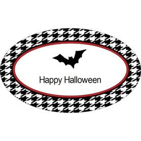 Avery 22814 Word Template Templates Halloween Bat with Houndstooth Pattern Print