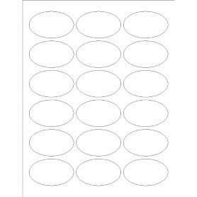 Avery 22814 Word Template Templates Print to the Edge Oval Labels 18 Per Sheet