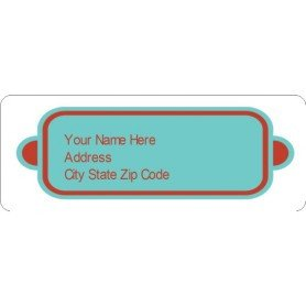 Avery 48860 Template for Word Templates Bright Red Design Address Labels 30 Per Sheet