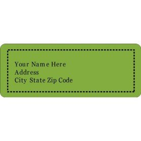 Avery 48860 Template for Word Templates Green Background Address Labels 30 Per Sheet