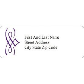Avery 48860 Template for Word Templates Purple Design Address Labels 30 Per Sheet