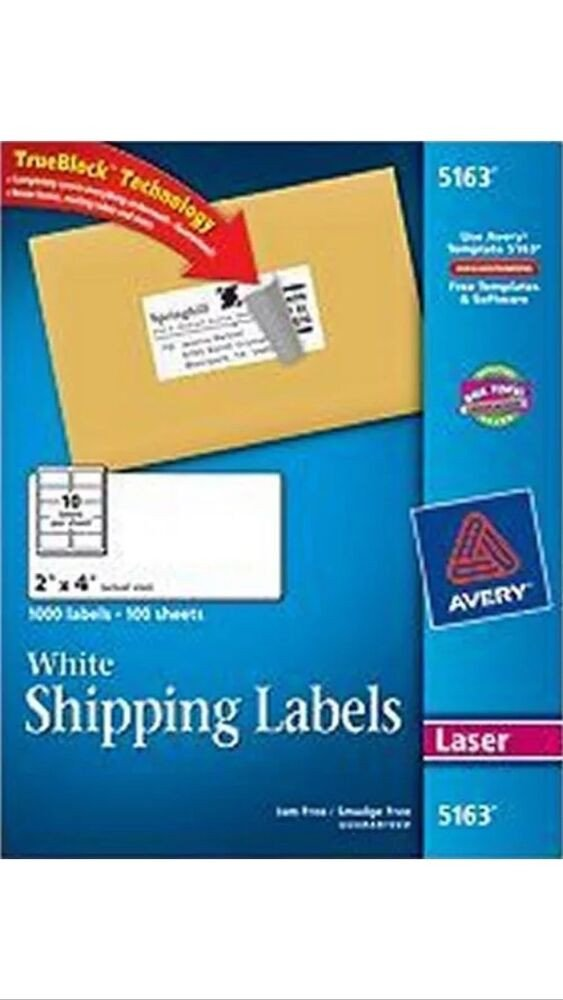"Avery 5163 Labels Template 50 Avery 5163 8163 2"" X 4"" Shipping Address Labels 10"