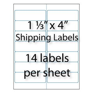 "Avery 8162 Template for Word Address Labels 1 1 3 X 4"" 14 Up"