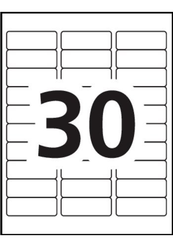 Avery 8593 Label Template Avery Address Labels 5160 Blank 30 Labels Per Sheet