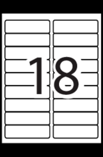 Avery 8593 Label Template Avery Extra Filing Labels Template 18