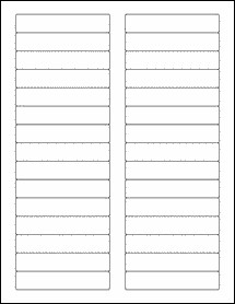 Avery 8593 Label Template File Folder Labels 1000 Sheets White Matte Blank Laser
