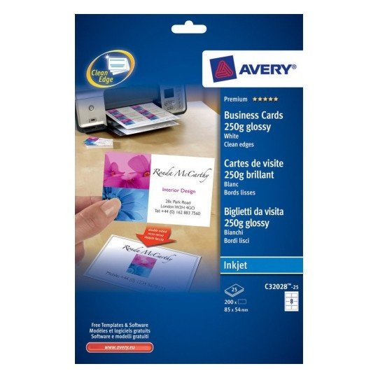 Avery Business Cards Template Business Cards C 25
