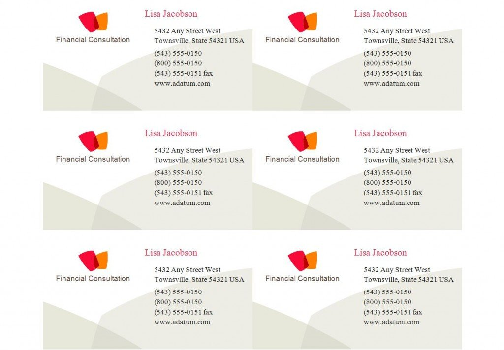 Avery Business Cards Template Patible with Avery Business Card Template 8371