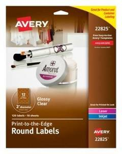 Avery Label Template 22825 Avery Easy Peel Print to the Edge Permanent Inkjetlaser
