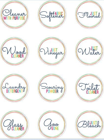 Avery Label Template 22825 Free Printable Labels for Homemade Cleaners Int On