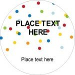 Avery Label Template 22825 Templates Birthday Confetti Round Labels 12 Per Sheet