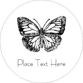 Avery Label Template 22825 Templates butterfly Print to the Edge Round Labels 12
