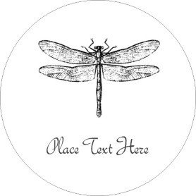 Avery Label Template 22825 Templates Dragonfly Print to the Edge Round Labels 12
