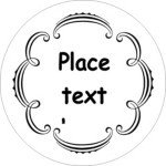 Avery Label Template 22825 Templates Martha Stewart Whimsical Wedding Border Round