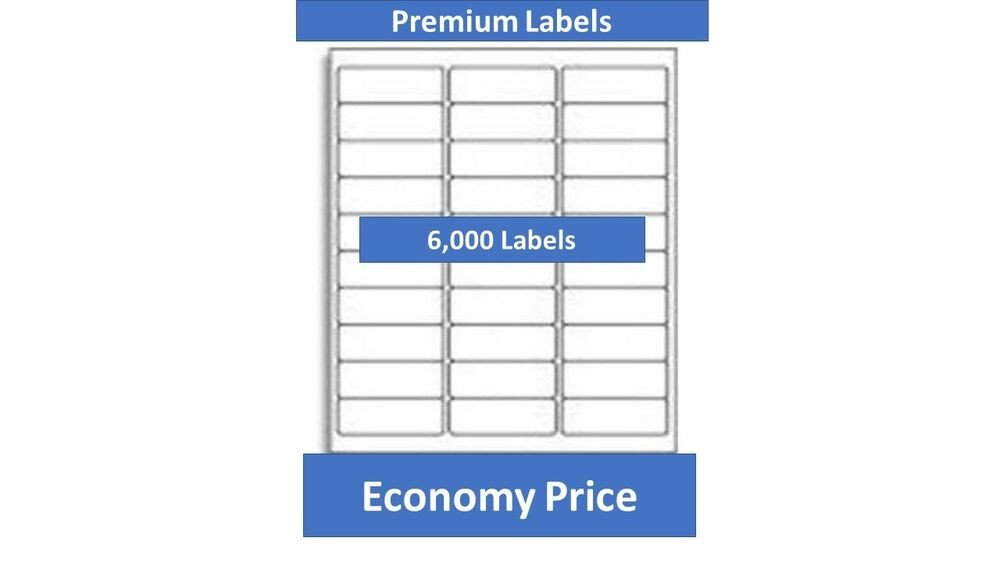 Avery Label Template 5960 6000 Laser Ink Jet Labels 30up Address Patible with