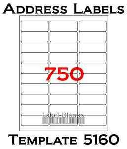 Avery Label Template 5960 750 Laser Ink Jet Labels 30up Address Patible to