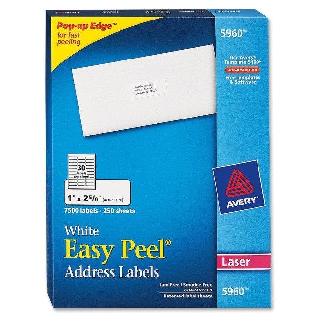 Avery Label Template 5960 Printer